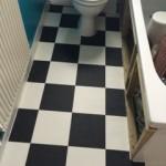 Black and white tile effect vinyl